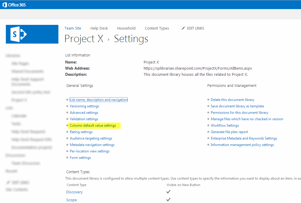 sharepoint 2013 document library template