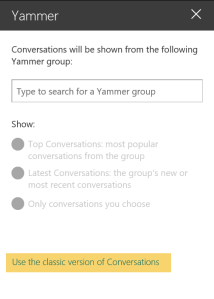 Yammer web part 02