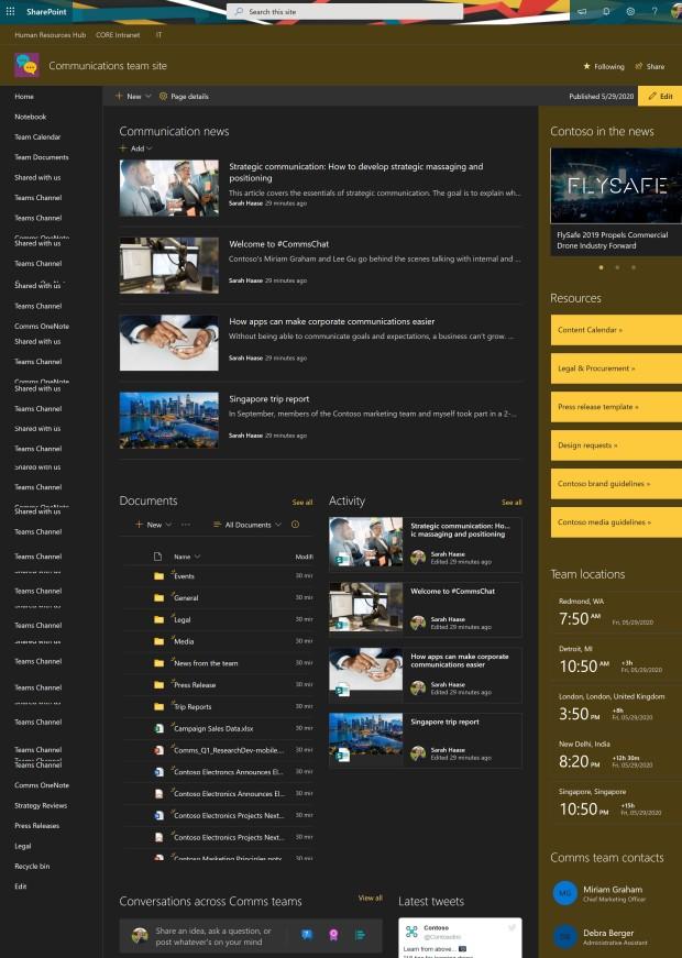Hub site branding - 03