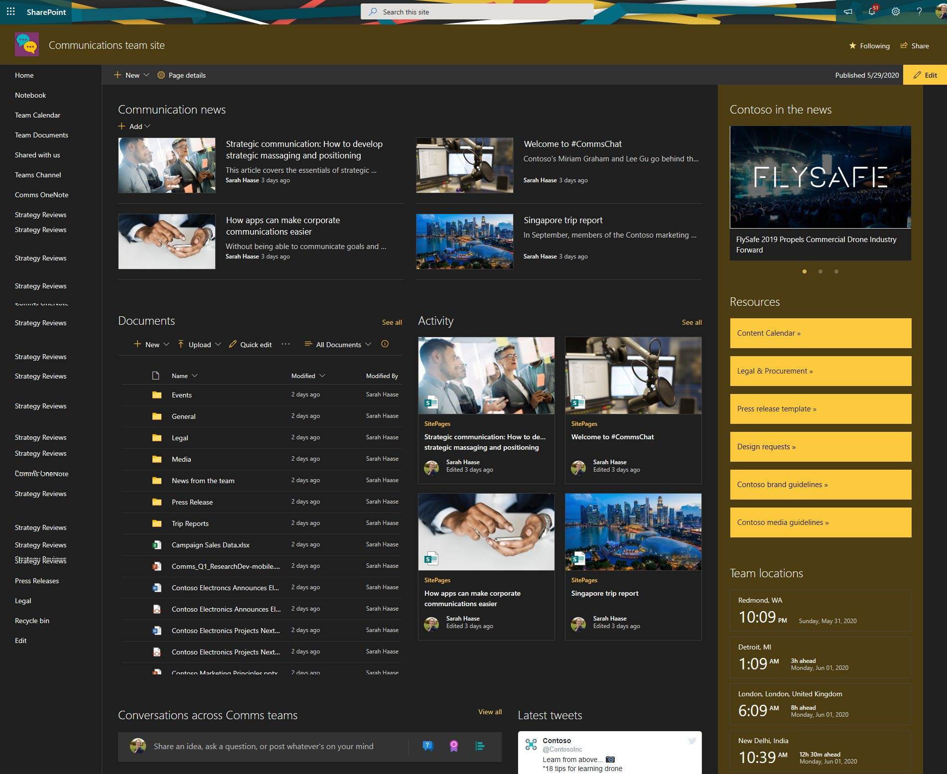 Hub site branding - 05
