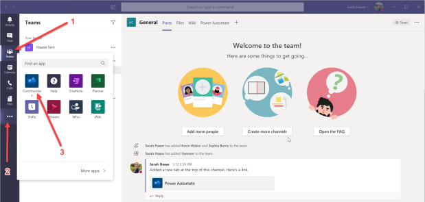 Yammer app in Teams - 01