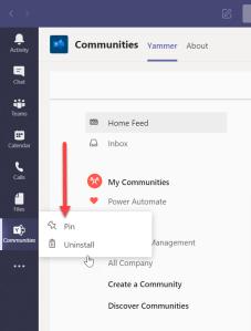 Yammer app in Teams - 02
