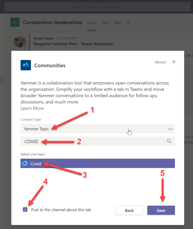 Yammer app in Teams - 07
